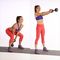 Dumbbell-Swing-for-losing-weight-women